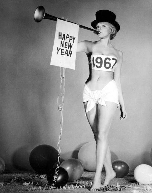 Karen Jensen sending out happy tunes for 1967.