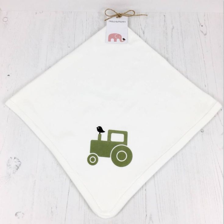 Organic baby blanket tractor   – Products
