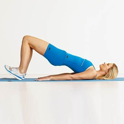 Try these 18 exercises that tighten and tone your legs from butt to ankles and everything in between, like this hip bridge. | Health.com