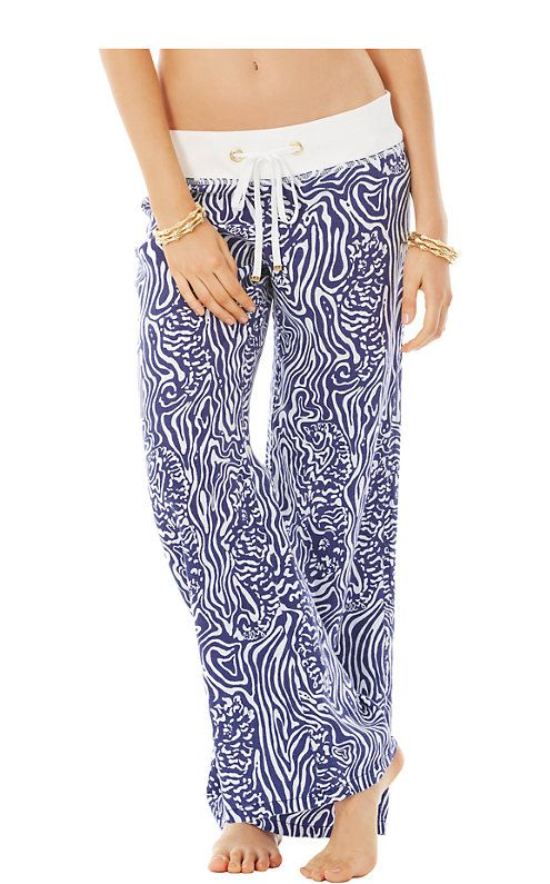 Our luxurious printed linen pants are BACK! When the sun dips below the horizon and the beach breeze gets a little brisk, pull these colorful pants over your   bikini and head inside for five o'clock sips.  These will be your go-to day at  the beach pants for sunshine days.