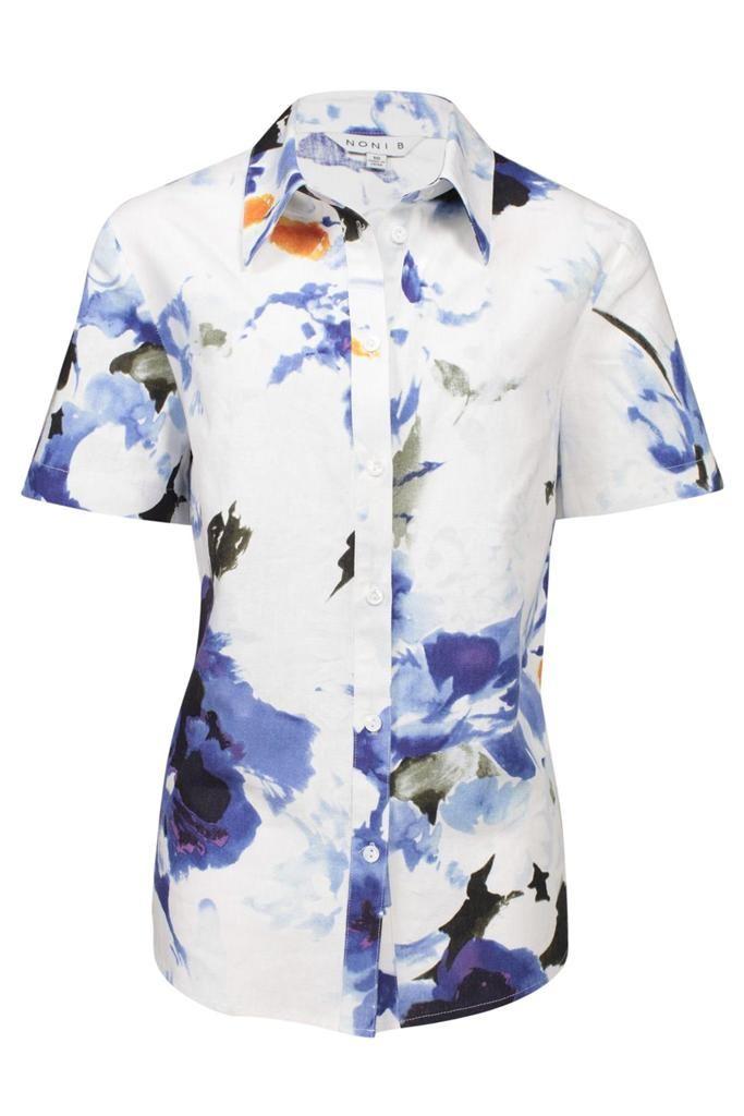 Print Linen Blend Shirt