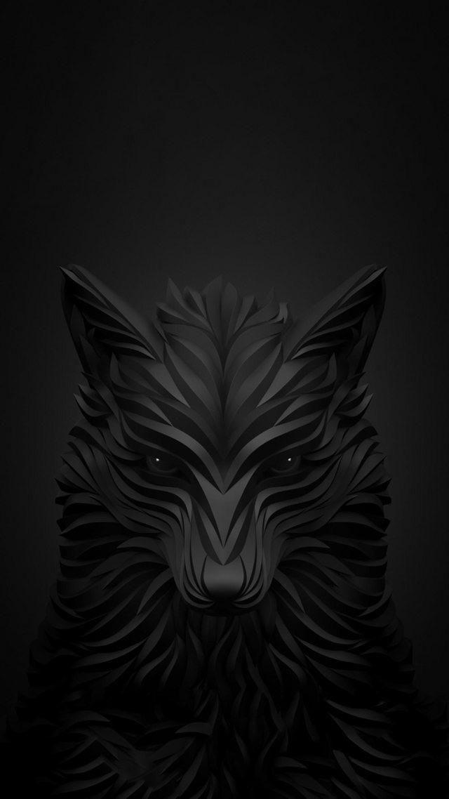 Black Wolf Dark Black Wallpaper Iphone Wallpaper Wolf Cute Black Wallpaper Black wolf hd mobile wallpaper