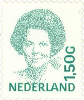 1991 | Peter Struycken | groen | koningin Beatrix