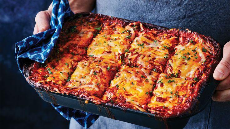 Spicy Enchilada Lasagna | Clean Eating Magazine