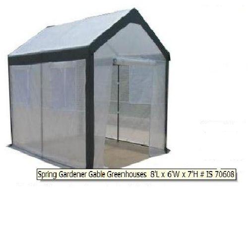 Customer Image For Spring Gardener Gable Greenhouse, 6 Feet X 8 Feet X 7  Feet