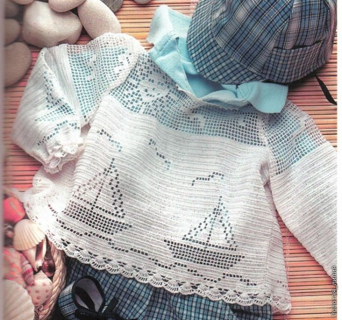 Кофточка для юной морячки!. Комментарии : LiveInternet - Российский Сервис Онлайн-Дневников
