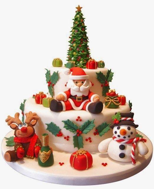 Christmas Cake - (cakeshautecouture)