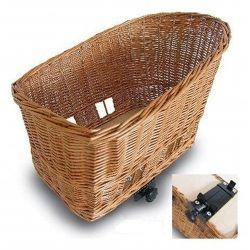 """$100+  Basil 'Pasja' 54017 pet bike basket - 20""""/50cm L x 16""""/42cm W x 13""""/33cm HT.  Pasha comes in Sm:  15"""", Med:  18"""" or LG""""  20"""".  Clamps to rear bike rack.  *Also a wire frame cover"""