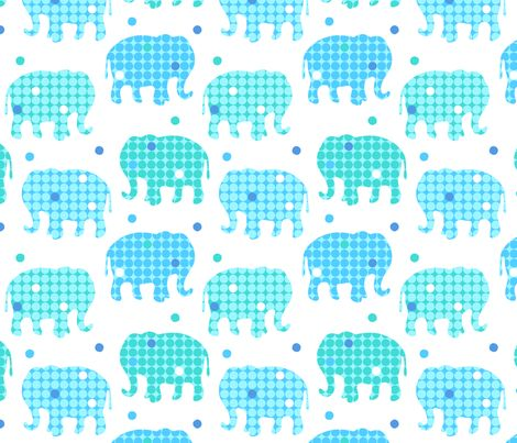 Elephants Dots fabric by nossisel on Spoonflower - custom fabric