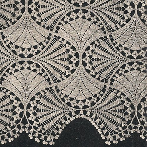 Victorian Fan and Flowers Crochet Bedspread Pattern, Lily Mills No 805