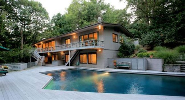 Pool Great-outdoor-pool-house-designs-and-Architecture-Design-of-Mid-Century-Modern-House 27 Aweome Picture of Pool House Designs