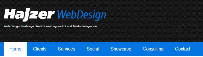New Hajzer Web Design Header!