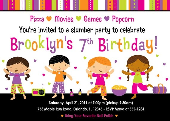 134 best images about Pajama party Printable – Cute Slumber Party Invitations