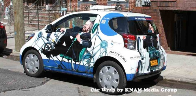 Car wrap advertising by knam media group