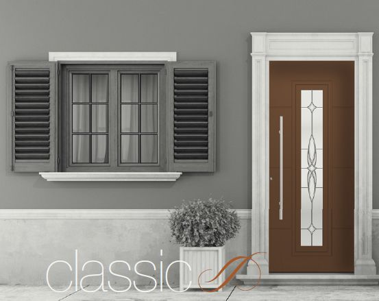 New classic design for Tradional Entrance Doors of TEHNI
