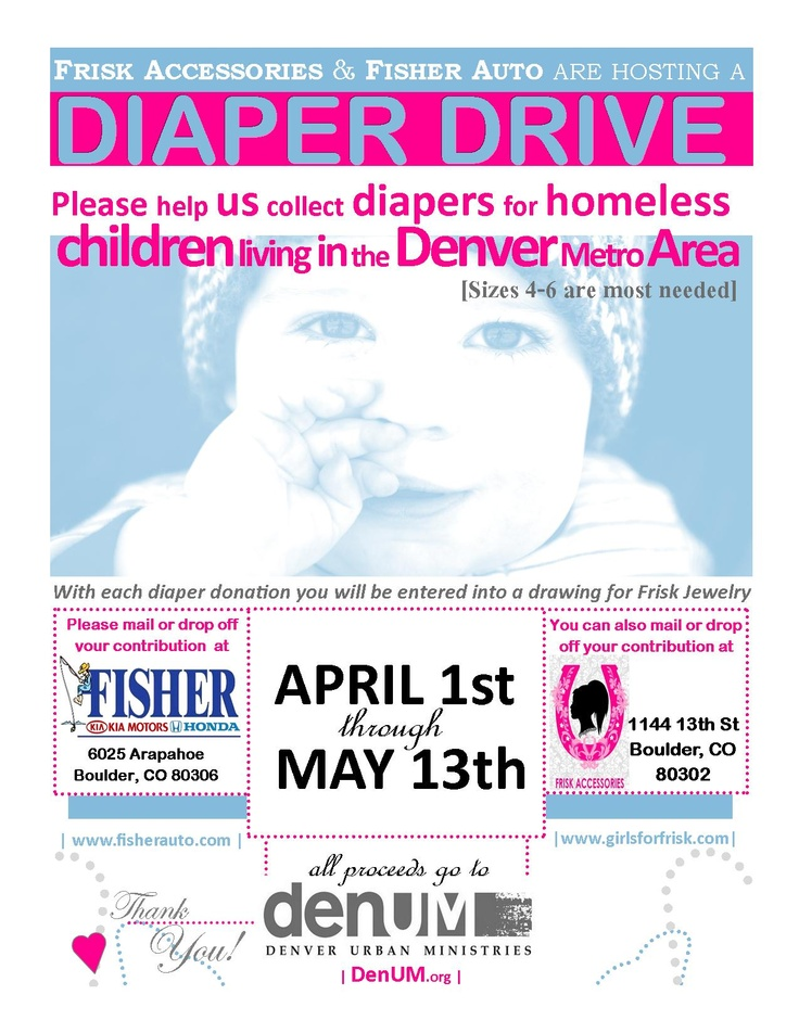 Our Diaper Drive Starts Sunday! Drop off your Diaper