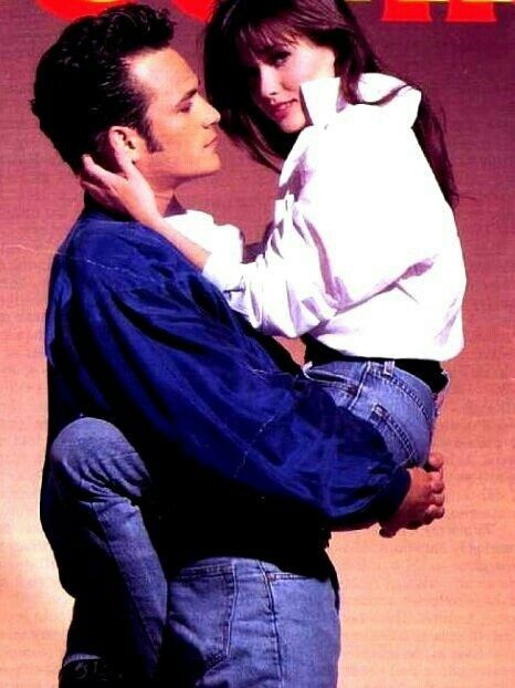 Dylan McKay and Brenda Walsh played by Luke Perry and Shannen Doherty on Beverly Hills 90210.
