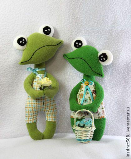 Вася и Фася - салатовый,лягушонок,лягушка игрушка,флис,холофайбер,хлопок