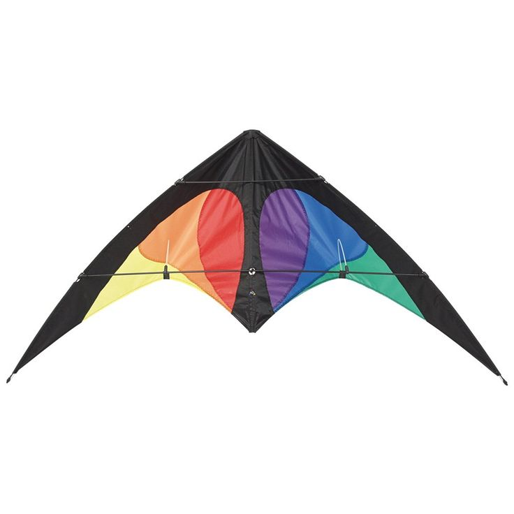 HQ Bebop Series Beach and Fun Sport Kite (Prisma). The Bebop Is An Easy To Fly Stunt Kite For Pilots 8 Years And Older. by Using The Same Clever 4-Point Sliding Bridle As The Yukon It Is Always Ensured That The Bebop Performs Well Even In Higher Winds. Kite Measures 145 cm by 69 cm. With Easy Control In A Wide Wind Window And No Oversteer The Bebop Is A Perfect Match For Beginner Flyers. 2 X 65 Ft On Winder With Straps included.