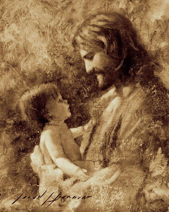 Lámina de Jesucristo Para tales es el Reino por por JaredBarnesArt