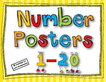 1-20 Number Posters FREE