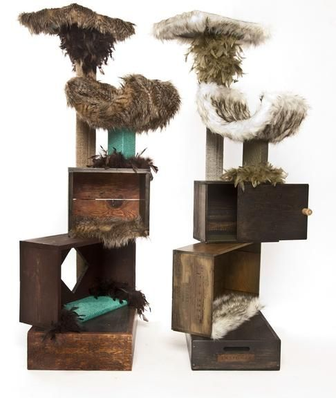 Artistically Designed Feline Furniture. Cool Cat Products. Cat Scratchers,  Cat Trees, Cat