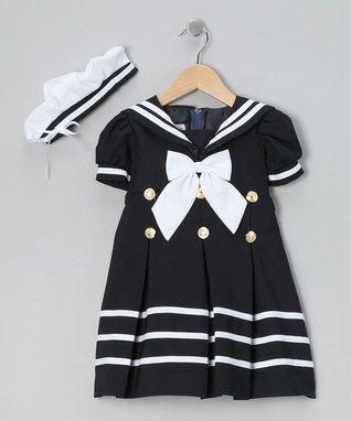 Navy Mariner Dress & Hat - Infant, Toddler & Girls