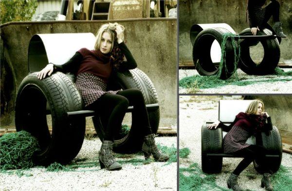 Fabulous  DIY M bel aus Autoreifen Altreifen Recycling