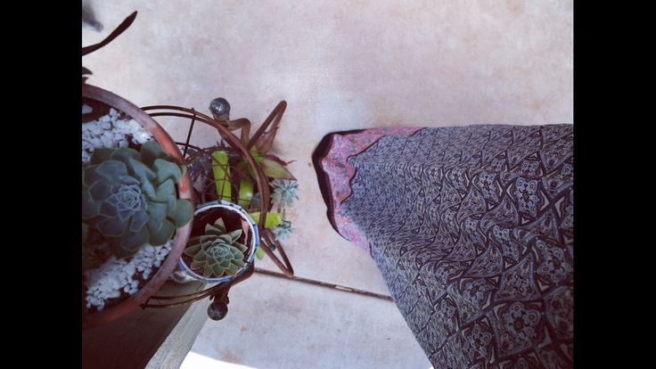 Succulents and maxi skirt