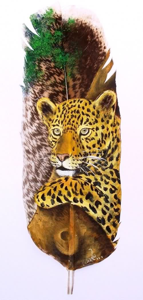 Painting on Feather