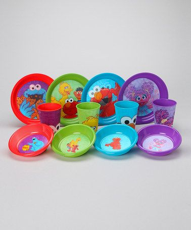 Take a look at this Sesame Street Characters 12-Piece Tableware Set by Sesame Street on #zulily today!