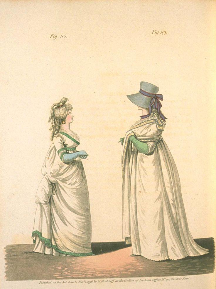 Gallery of fashion November 1796 - Morning dresses