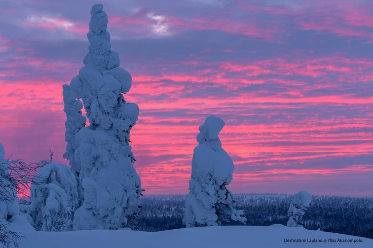 Sky is crying. Sunset yesterday in Pallas-Ylläs National park. Finland