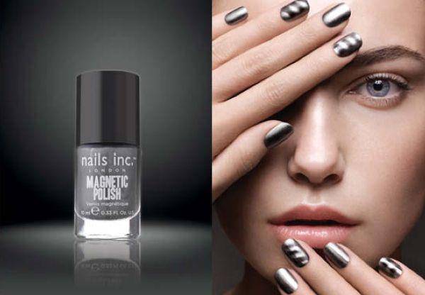 magnetic nail polish...so cool!: Magnets Polish, Nails Art, Magnets Nails, Nailpolish, Magnets Fingernail, Fingernail Polish, Nails Ideas, Nails Polish, Nails Inc