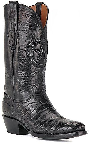 Black Jack® Men's Black Gator Belly Exotic Western Boots | Cavender's Boot City