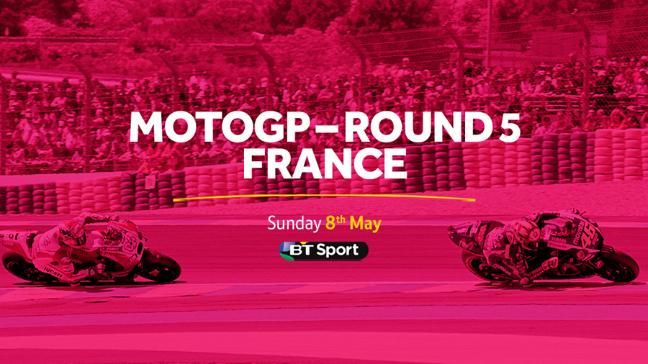Watch round five of the MotoGP season live from France on BT Sport 2.