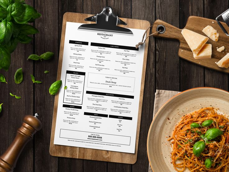 Free editable menus for your restaurant, great to highlight on your website and use in your restaurant marketing plan