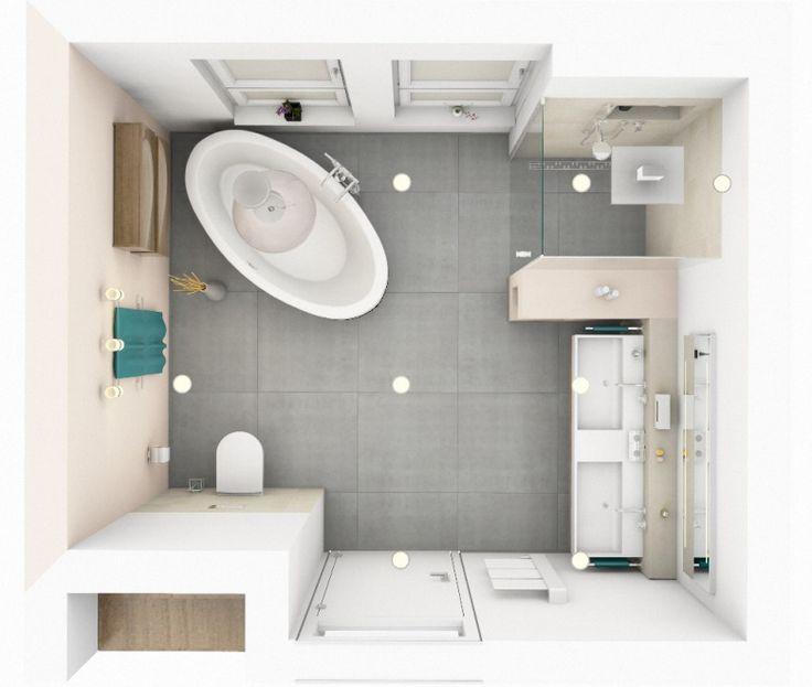 freistehende Badewanne Bad Pinterest Bathroom inspiration - badezimmer grundriss