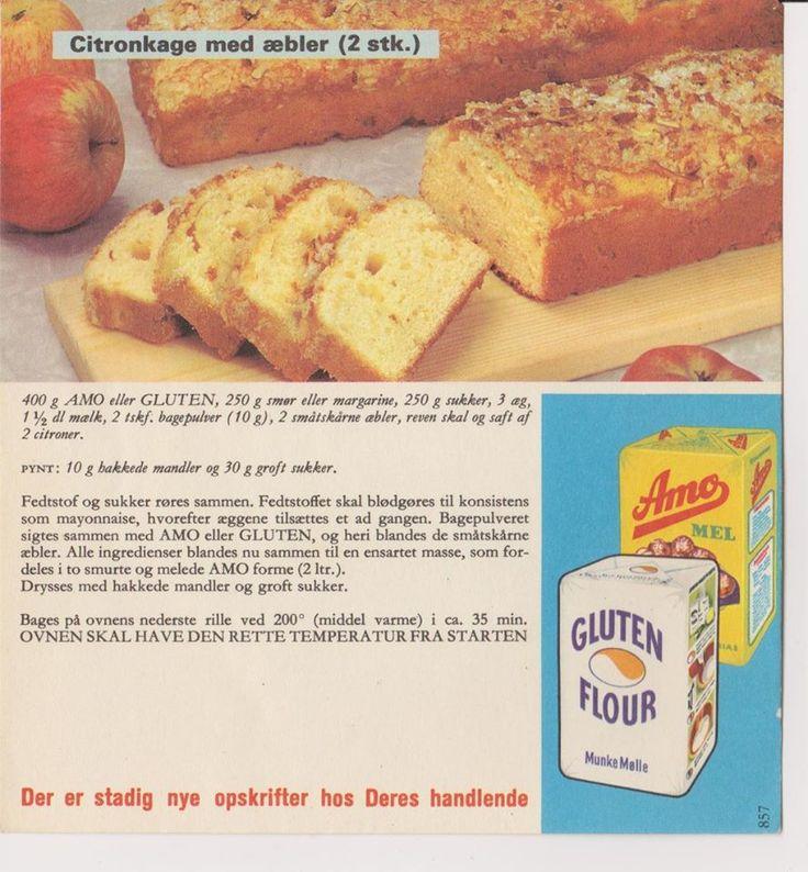 Citronkage med Æbler ( 2 stk. )...