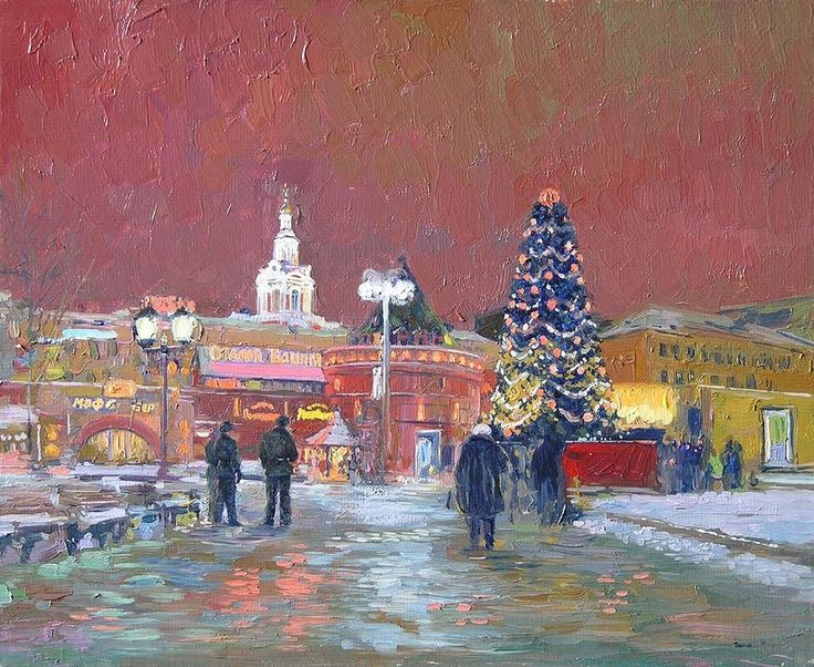 """Семен Кожин """"Новый год. Площадь Революции. Москва"""", 2005"""