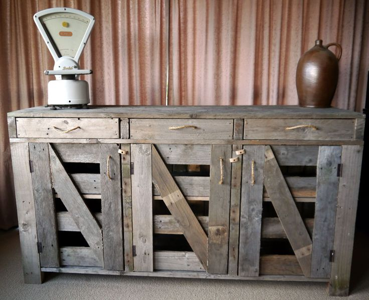 Farm style sideboard buffet Pallet Furniture Pinterest Sideboard buffet, Products and Pallets