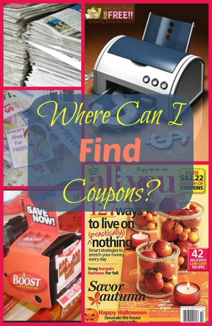 FAQ About Coupons: Where Can I Find Coupons? - Grocery Shop For FREE!!