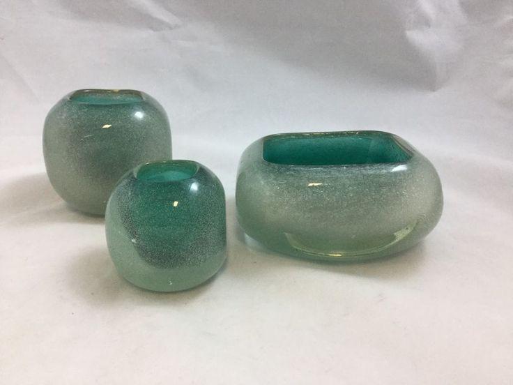 Carlo Scarpa For Venini Art Glass Set of 3 #Venini