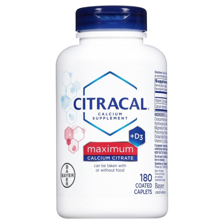 Citracal Calcium Citrate Supplement Tablets - 180ct