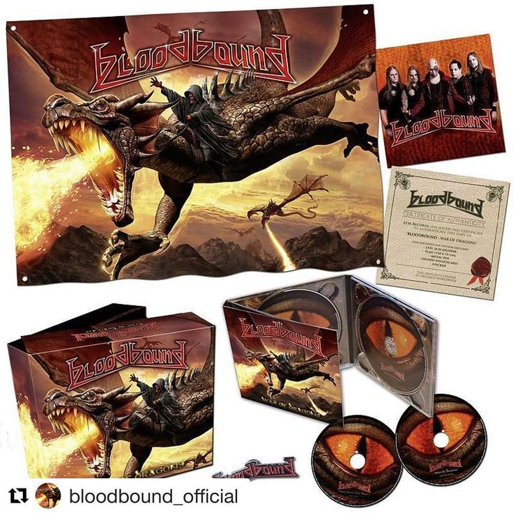 Today I have been the official bass player for Bloodbound for six years. Let's celebrate this by ordering this cool box. http://www.emp.de/search/bloodbound%20war%20of%20dragons/ #bass #timeflys #bloodbound #warofdragons #newrecord