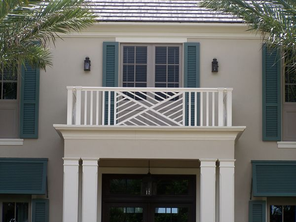 Balcony railing design iron rails pinterest balcony for Modern balcony railing design