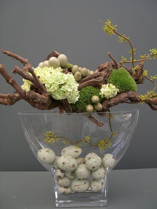 ostern dekoration frisch festlich ostereier hasen küken wachtel gelb frisch farben schüssel-blumen-vasen-frühling-feiertag