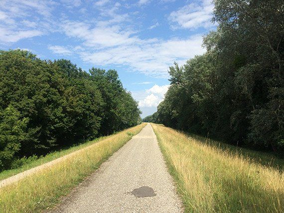 Radtour nach bratislava,  hainburg