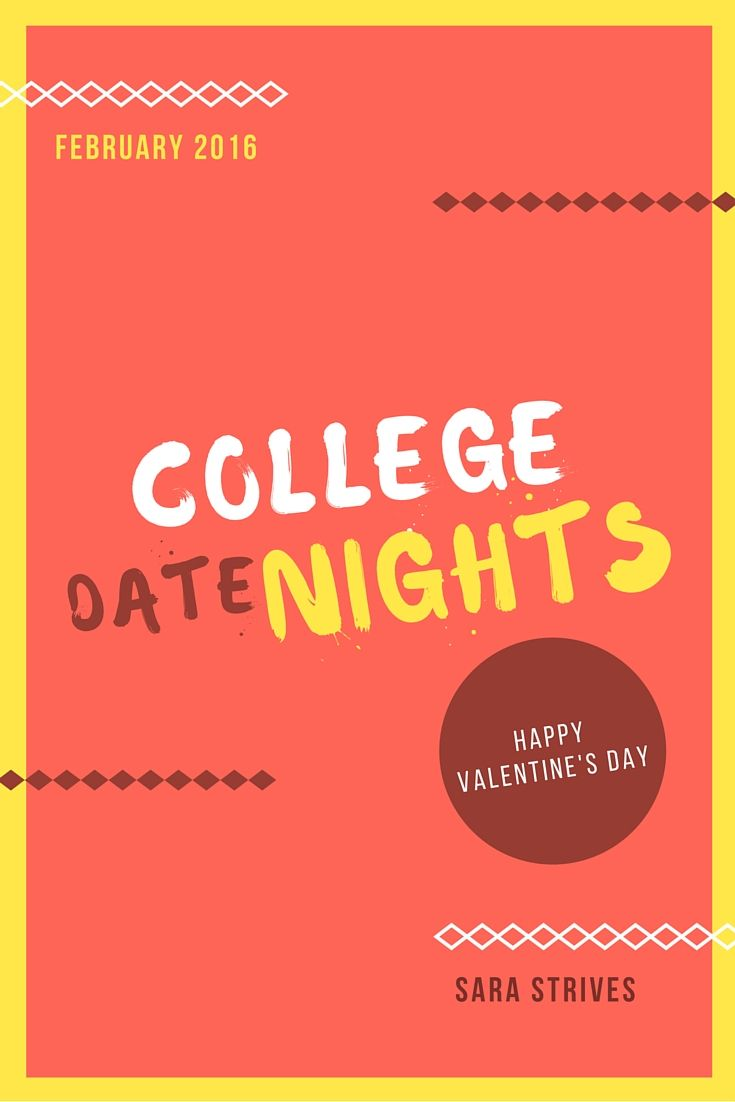 I thought I would share some date night ideas with Valentine's Day coming up! Now, these are more casual dates, but that's my personal taste and budget. Local College Pizza Joint Most colleges have...