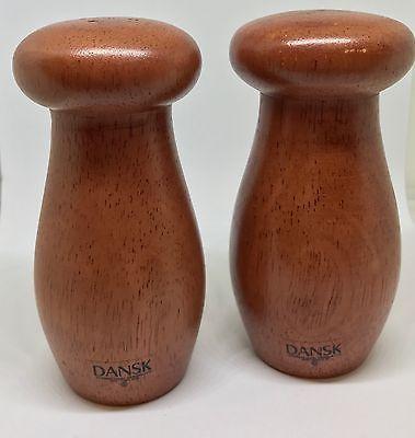 Dansk Modern Teak Mushroom Salt & Pepper Shaker Set MCM Home Decor | eBay